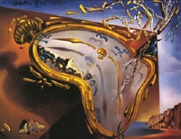 Salvador Dali's 'Melting Clock at Moment of First Explosi'